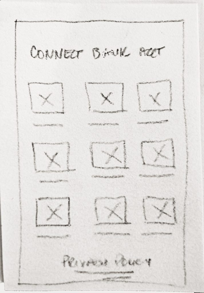 Sketch of connect bank account